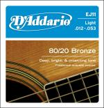 D`ADDARIO EJ11 80/20 BRONZE LIGHT 12-53
