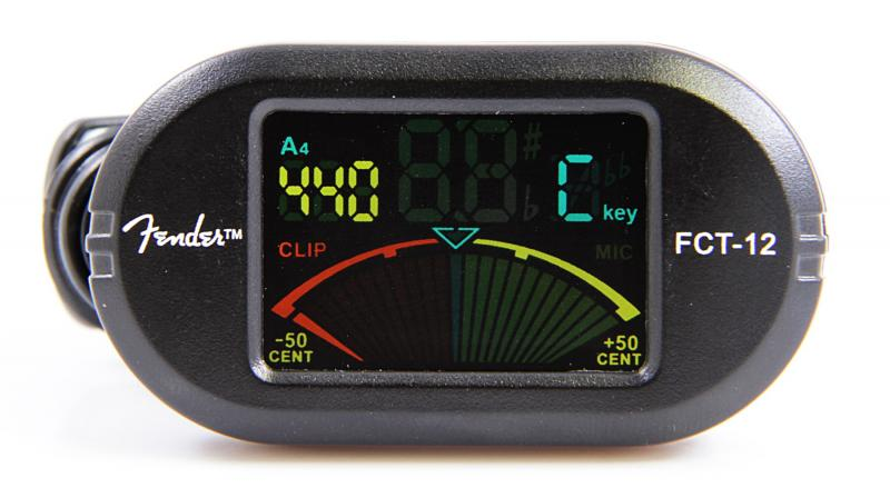 FENDER FCT 012 COLOUR CLIP ON TUNER