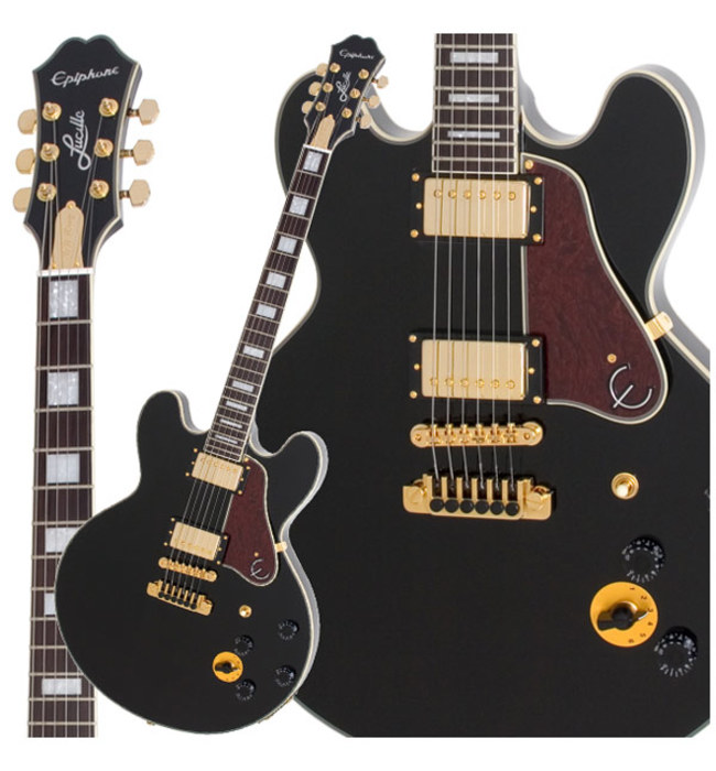 EPIPHONE B B KING LUCILLE EBONY GOLD HARDWARE