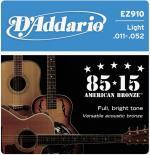 Гитарные струны D'ADDARIO EZ910